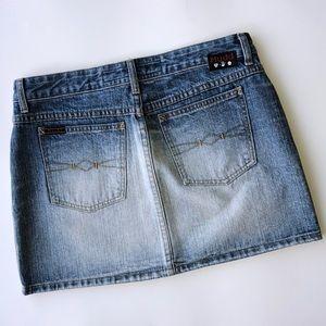 Vintage Mudd Yo! Denim Mini Skirt Size 9